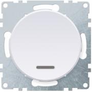 Выключатель одноклавишный с подсветкой OKE Florence. Цвет белый