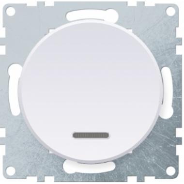 Выключатель одноклавишный с подсветкой OneKeyElectro серии Florence. Цвет белый