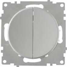 Выключатель двухклавишный OKE Florence. Цвет серый