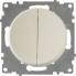 Выключатель двухклавишный OneKeyElectro серии Florence. Цвет бежевый