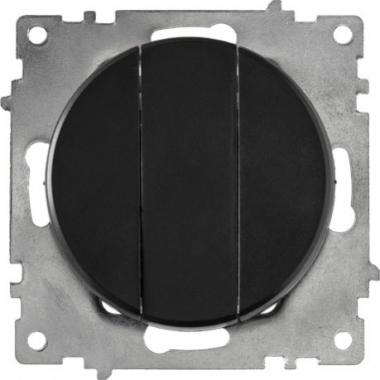 Выключатель трехклавишный OneKeyElectro серии Florence. Цвет черный
