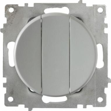 Выключатель трехклавишный OneKeyElectro серии Florence. Цвет серый