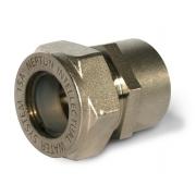 Муфта Neptun IWS (F) 15 х 1/2 НП - с никелированным покрытием
