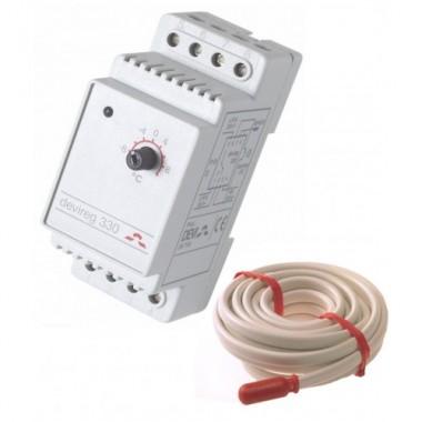Терморегулятор Devireg 330, -10...+10 °C, (140F1070) с выносным датчиком температуры