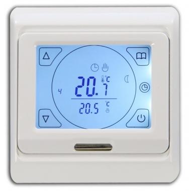 EASTEC 91.716 - программируемый терморегулятор для теплого пола с сенсорным экраном тач-скрин