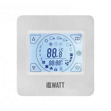 IQ THERMOSTAT тип TS - программируемый терморегулятор для теплого пола с сенсорным экраном тач-скрин