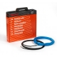 Резистивный двужильный экранированный греющий кабель Raychem T2Blue для теплого пола в слой стяжки 30-50 мм