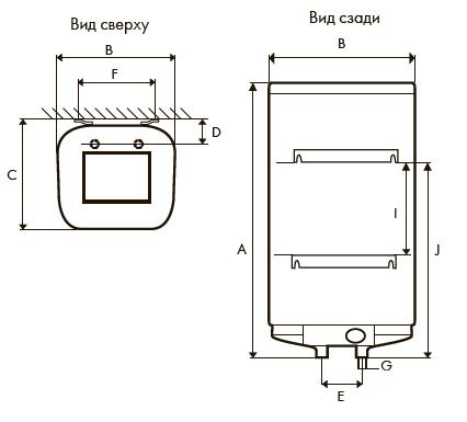 Габаритные размеры водонагревателя Atlantic Steatite Cube